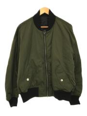 ダウンジャケット/36/ナイロン/ブラック/黒/グリーン/緑/フライトジャケット/MA-1