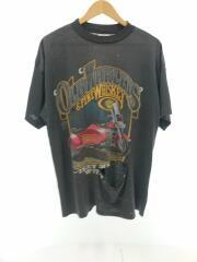 80s/USA製ボディ/1988年/Tシャツ/XL/コットン/BLK/プリント/ヴィンテージ/シングル