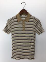 ポロシャツ/--/コットン/BEG/ボーダー