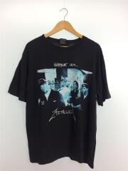 Tシャツ/L/コットン/BLK/プリント/metaluca/garage inc/90s