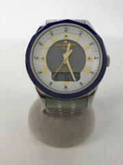 ソーラー腕時計/アナログ/--/WHT/SLV