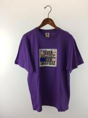 Tシャツ/M/コットン/プリント/紫/BEPF18TE01/18AW/LABEL TEE/ザブラックアイパッチ