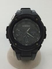 ソーラー腕時計・G-SHOCK/デジアナ/ラバー/BLK/BLK