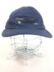 18AW/Patent Leather Patch Camp Cap/ジェットキャップ/ナイロン/ネイビー/紺
