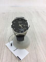 KINETI/Cクォーツ腕時計/アナログ/レザー/SLV/5m84-0ac0/