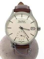 THE STAC/クォーツ腕時計/アナログ/レザー/WHT