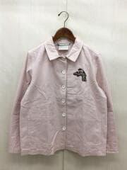 ジャケット/42/コットン/ピンク/刺繍ジャケット