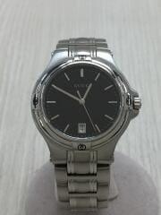クォーツ腕時計/アナログ/ステンレス/BLK/SLV/9040M
