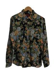 flower shirt/長袖シャツ/M/コットン/マルチカラー/使用感有