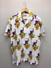 20SS HAWAIIAN SHIRT/ハワイアンシャツ/アロハシャツ/L/レーヨン/WHT/総柄