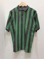 BIG POLO SHIRT STRIPE/ポロシャツ/46/コットン/GRN/8038-00-21041