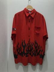 半袖シャツ/XL/ポリエステル/RED