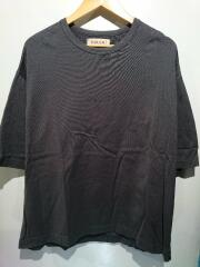 ロゴ刺繍プルオーバー/Tシャツ/1/コットン/グレー/20-SS-011