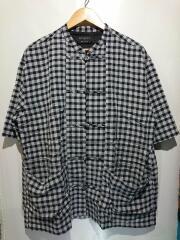 チャイナシャツ/半袖シャツ/2/レーヨン/チェック/400402001