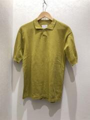 C/L knit polo/セーター(薄手)/48/コットン/YLW/無地/KN0382