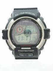 ソーラー腕時計/デジタル/ラバー/BLK