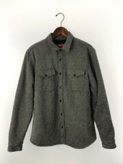 12AW/Pile Lined Shirt/裏ボアウールシャツ/M/ウール/GRY