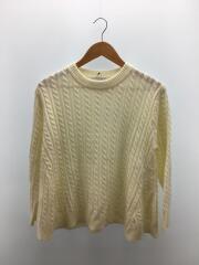 セーター(厚手)/--/ウール/WHT/シンプリシテェ/白/ホワイト/19AW