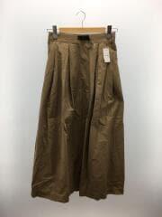 スカート/4/コットン/BEG/ベージュ/タックフレアロングスカート
