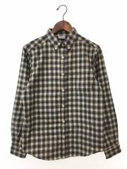 スクリースロープロングスリーブシャツ/長袖シャツ/S/ポリエステル/GRY/チェック/PM7809