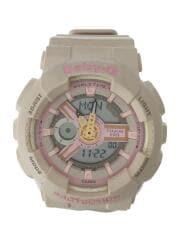 クォーツ腕時計/ベビィージー/デジタル/ラバー/ピンク
