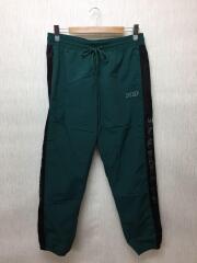 ストレートパンツ/XL/ナイロン/グリーン