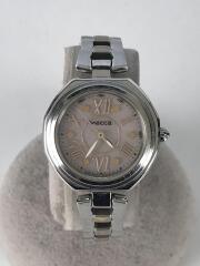 ソーラー腕時計/アナログ/ステンレス/PNK/SLV/KL4-0363-11