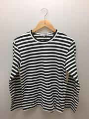 長袖Tシャツ/S/コットン/WHT×BLK/ボーダー/OK-T002/2018