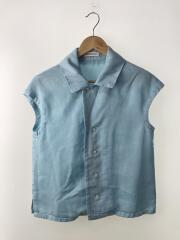 CAP SLEEVE BLOUSE OVER DYED TWILL/0/リヨセル/BLU/無地/MB171-5033