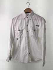 Bahama II L/S Shirt_バハマ2ロングスリーブシャツ/S/ナイロン/WHT/無地