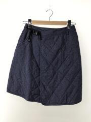 オムニヒートラップスカート/S/ナイロン/BLU