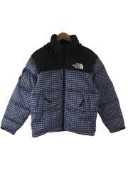 Studded Nuptse Jacket/S/ナイロン/BLU/総柄/ND42100I/21ss