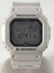 クォーツ腕時計・G-SHOCK/G-LIDE/デジタル/ラバー/WHT/WHT/GLX-5600
