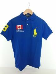 ポロシャツ/S/コットン/ブルー/U1PRD-4