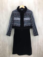セットアップ/9/羊毛使用/ウール/BLK