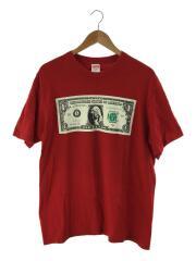17AW/Dollar Tee/Tシャツ/M/コットン/レッド/プリント