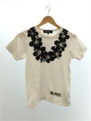 Tシャツ/S/コットン/白/ブラックコムデギャルソン