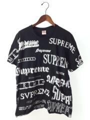 2020aw/Multi Logo Tee/Tシャツ/L/コットン/BLK