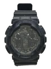 クォーツ腕時計・G-SHOCK/デジアナ/BLK/GA-100CF-1AJF