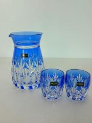 グラス/3点セット/BLU/クリスタルガラス/ホヤ/デカンタ