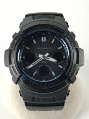 G-SHOCK/ソーラー腕時計/デジアナ/ステンレス/BLK/BLK/AWG-M100BC