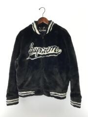 20SS/Faux Fur Varsity Jacket/ジャケット/M/アクリル/BLK