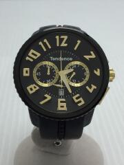 クォーツ腕時計/アナログ/BLK/BLK/GULLIVER ROUND/ガリバーラウンド