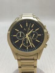 クォーツ腕時計/クロノグラフ/アナログ/ステンレス/BLK/GLD/ゴールド/AX2611