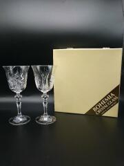 Bohemia ボヘミヤ/クリスタルワイングラス/2点セット