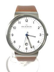 クォーツ腕時計/アナログ/レザーバンド/SKW60821/ホワイト文字盤