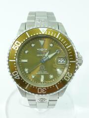 13863/pro diver/自動巻腕時計/アナログ/ステンレス/GLD/SLV/300m