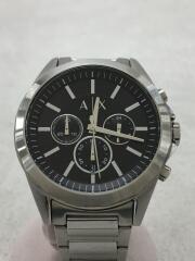 クォーツ腕時計/アナログ/ステンレス/ブラック/シルバー/AX2600