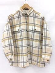 シャギーチェックシャツ/長袖シャツ/0/ポリエステル/BEG/チェック