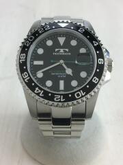 テクノス/クォーツ腕時計/TSM412/アナログ/ステンレス/ブラック/シルバー/日付/コマ/10ATM